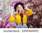 outdoor portrait of young...   Shutterstock . vector #1049464091