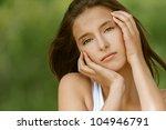 portrait of beautiful young... | Shutterstock . vector #104946791