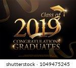 class of 2019 congratulations... | Shutterstock .eps vector #1049475245