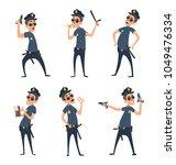 policemen in different action... | Shutterstock .eps vector #1049476334