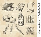 literature concept pictures.... | Shutterstock .eps vector #1049476349