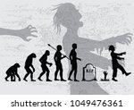 evolution of zombie.   Shutterstock .eps vector #1049476361
