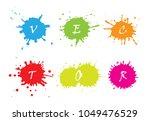 set of paint splatters... | Shutterstock .eps vector #1049476529
