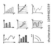 hand drawn business doodle set...   Shutterstock .eps vector #1049482559