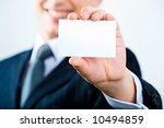 image of business man holding a ... | Shutterstock . vector #10494859