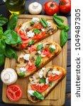 tasty homemade italian... | Shutterstock . vector #1049487305