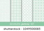 set of seamless line patterns....   Shutterstock .eps vector #1049500085