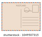 Postal Card  Isolated On White...