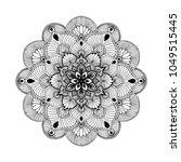 mandalas for coloring book.... | Shutterstock .eps vector #1049515445