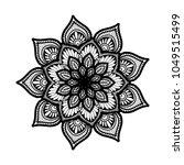 mandalas for coloring book.... | Shutterstock .eps vector #1049515499
