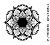 mandalas for coloring book.... | Shutterstock .eps vector #1049515511