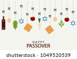 happy passover greeting card or ... | Shutterstock .eps vector #1049520539