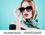 portrait of a stylish woman...   Shutterstock . vector #1049531645