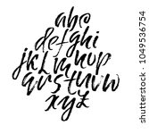 handdrawn dry brush font.... | Shutterstock .eps vector #1049536754