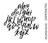 handdrawn dry brush font.... | Shutterstock .eps vector #1049536754