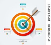 target infographic template.... | Shutterstock .eps vector #1049538497