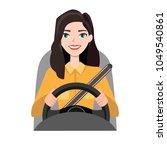 woman driving a car. woman... | Shutterstock .eps vector #1049540861