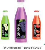 juice bottle.illustration vector | Shutterstock .eps vector #1049541419