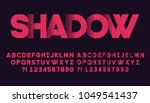geometric font with shadow... | Shutterstock .eps vector #1049541437