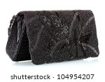 Black Clutch Embroidered With...