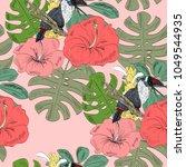 tropical seamless vector... | Shutterstock .eps vector #1049544935