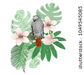 tropical vector illustration... | Shutterstock .eps vector #1049545085