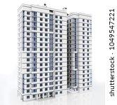 3d modern high rise building on ... | Shutterstock . vector #1049547221