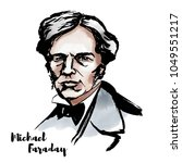 michael faraday watercolor... | Shutterstock .eps vector #1049551217