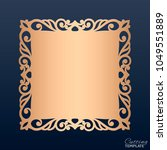 wedding invitation with lace... | Shutterstock .eps vector #1049551889