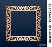 laser cut paper lace frame ... | Shutterstock .eps vector #1049551895