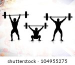 sequence of weight lifting ... | Shutterstock .eps vector #104955275