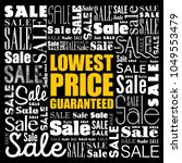 lowest price guaranteed words...   Shutterstock .eps vector #1049553479