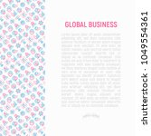 global business concept with...   Shutterstock .eps vector #1049554361