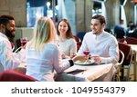 portrait of happy adults having ...   Shutterstock . vector #1049554379