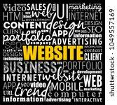 website word cloud collage ...   Shutterstock .eps vector #1049557169