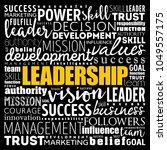 leadership word cloud collage ...   Shutterstock .eps vector #1049557175