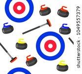 curling sport seamless pattern...   Shutterstock .eps vector #1049557379