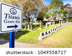 titanic cemetery. place in the... | Shutterstock . vector #1049558717