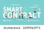 smart contract concept...   Shutterstock .eps vector #1049562971