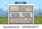 male prison interior city... | Shutterstock .eps vector #1049562977