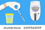 urine analysis tract exam... | Shutterstock .eps vector #1049564039