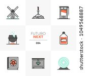 modern flat icons set of... | Shutterstock .eps vector #1049568887