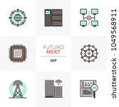 modern flat icons set of smart... | Shutterstock .eps vector #1049568911