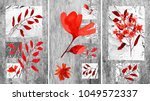 a collection of designer oil... | Shutterstock . vector #1049572337