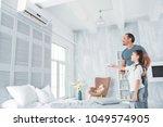 climate control. joyful... | Shutterstock . vector #1049574905