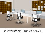 vector office space is quite... | Shutterstock .eps vector #1049577674