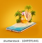 unusual 3d illustration of a... | Shutterstock . vector #1049591441