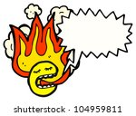 cartoon flaming emoticon face   Shutterstock . vector #104959811