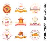 amusement park colourful... | Shutterstock .eps vector #1049602409