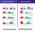 correct sleeping cartoon... | Shutterstock .eps vector #1049602445